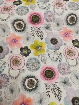 Musselin - Blumen -