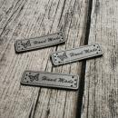 Handmade Label - grau -